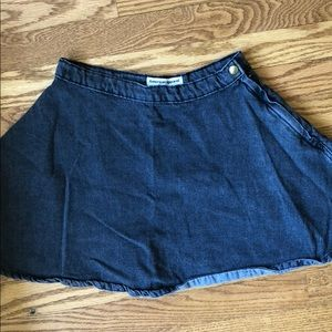 American Apparel High Waisted Jean Skirt size s